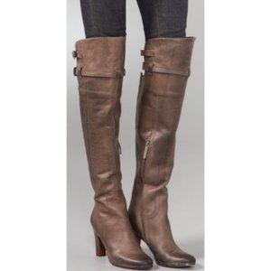 Sam Edelman Brown Leather Heeled High Boots 6